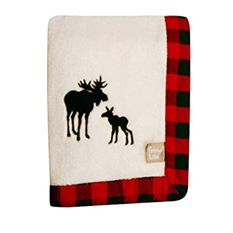 Trend Lab Northwoods Framed Receiving Blanket, Moose