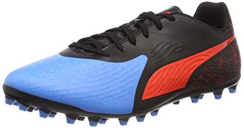 Puma Herren ONE 19.4 MG Fußballschuhe, Blau (Bleu Azur-Red Blast Black), 41 EU