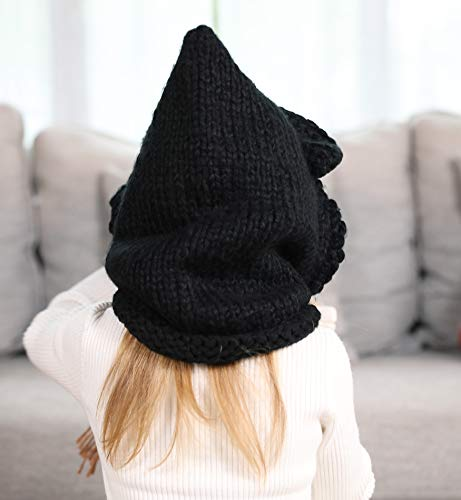 Sumolux Cappelli in Maglia da Bambini Invernale Berretto Volpe Animale  Caldo Coif Cappuccio Sciarpa 18dcc4181645