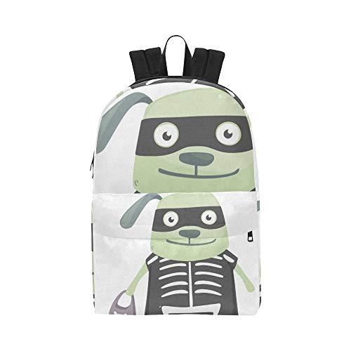 Grüner Hintergrund Hund Klassische Wasserdichte Daypack Reisetaschen Kausalen College School Rucksäcke Rucksäcke Bookbag Für Kinder Frauen ()