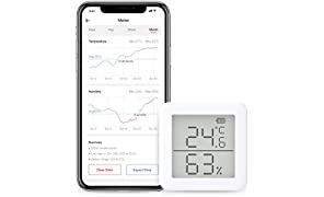 SwitchBot Thermometer Hygrometer Alexa iPhone - Android Wireless Temperature Humidity Sensor with Alerts