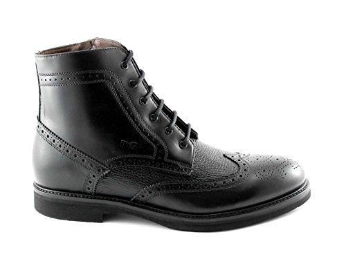 BLACK JARDINS 4422 homme noir chaussures zip bottines lacets English Nero