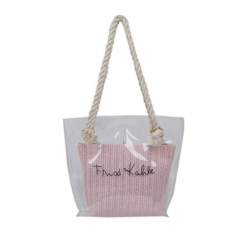Likecrazy Umhängetasche Damen Handtasche Schultertasche Casual Transparent Umhängetaschen Fashion Bag Groß Kapazität Damentasche