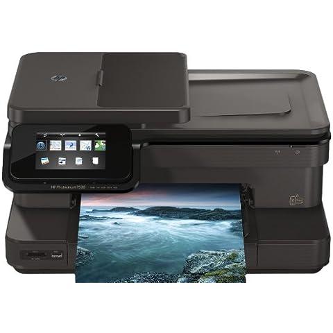 HP Photosmart 7520 e-AiO - Impresora multifunción (De inyección de tinta, Copiar, fax, Imprimir, Escanear, Copiar, fax, Imprimir, Escanear, 14 ppm, 10 ppm, 34 ppm)
