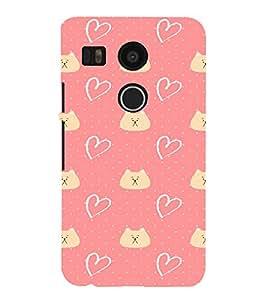 EPICCASE Cat n Love Mobile Back Case Cover For LG Nexus 5x (Designer Case)