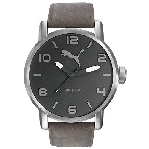 Hombre-reloj PUMA time 10414 - Leather Colour gris cuarzo analógico cuero PU104141005