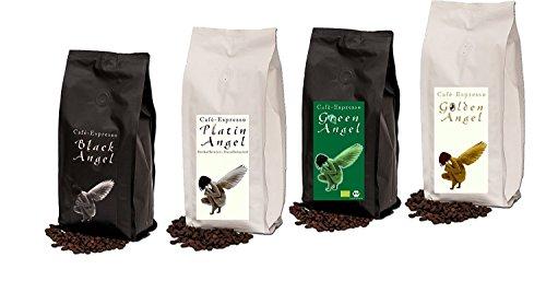 Espresso Probier Paket Cafe / Kaffeebohnen 4 x 150 g ganze Bohne '4 Engel für Crema'