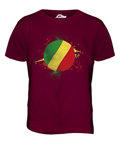 CandyMix Congo Fußball Herren T Shirt Burgunderrot