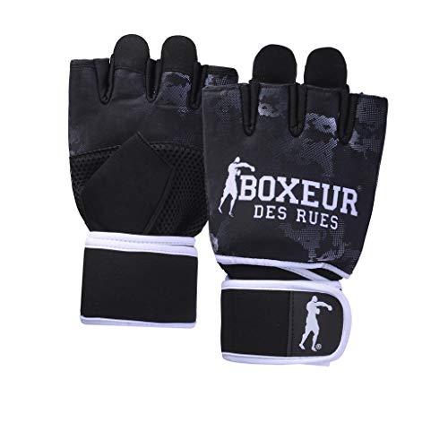 BOXEUR DES RUES BXT-5222 Fit-Boxhandschuhe Aus Neopren Mit Mesh-einsätzen, Schwarz, L-XL (Fit Boxhandschuhe)
