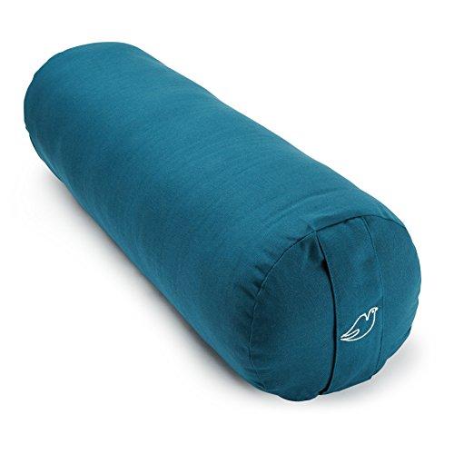 Blue Dove Yoga Bolster fabriqué à partir de coton biologique certifié GOTS, femme Homme mixte, noir foncé