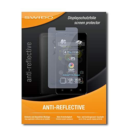 SWIDO Displayschutz für Allview P4 Pro [4 Stück] Anti-Reflex MATT Entspiegelnd, Hoher Härtegrad, Schutz vor Kratzer/Glasfolie, Schutzfolie, Displayschutzfolie, Panzerglas Folie