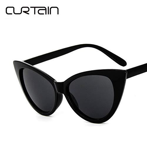 7ab49e7b6b RoadRoma 77042 Vintage Sexy Cat Eye Sunglasses Sun Glasses For Women Lady  Bright Black All Gray
