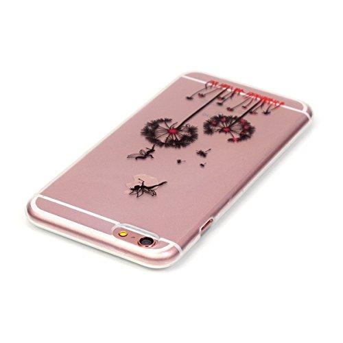 iPhone 6S Plus Hülle Case,iPhone 6 Plus Hülle Case,Gift_Source Fashion Colorful Silicone Protective Hülle Case Premium Flexible Transparent Soft TPU Slim Hülle Case Cover für iPhone 6S Plus/6 Plus [Be E01-11-Dandelion