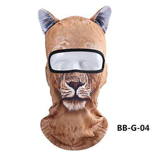 Passamontagna 3d modello animale, passamontagna scaldacollo, maschera integrale con orecchie, traspirante, ad asciugatura rapida, per sport all'aria aperta, equitazione, sci, come da immagine, #3