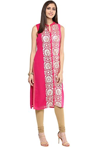 Rangmanch By Pantaloons Women's Mandarin Collar Kurta