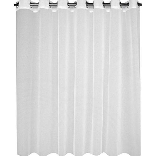 Best Interior Voilage uni Grande Largeur - Blanc - Dimensions : 300x240
