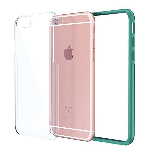 "iPhone 6 6s Plus 5.5"" Case, True Color® Kristall Clear Transparent Hybrid Abdeckung unterstützen stark + Soft dünne dauerhaft Schutz Stoß- TPU Stoßabdeckungs Hülle [Ultra Clear Sammlung] - Schwartz Teal"