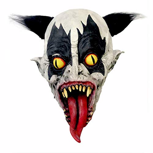 Kostüm Demon Batman - Halloween Latex Clown Maske mit Haar Kostüm Party Requisiten Masken Batman Maske Horrific Demon Scary Devil Flame Zombie Maske
