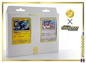 Zéblitz (Zebstrika) 82/214 Y Ecrémeuh (Miltank) 158/214 - #tooboost X Soleil & Lune 8 Tonnerre Perdu - Box de 10 Cartas Pokémon Francés + 1 Goodie Pokémon