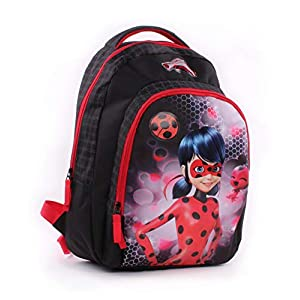 41ut%2BaOXL L. SS300  - Vadobag Backpack Miraculous Tales of Ladybug Mochila Infantil 44 Centimeters Negro (Black, Red)