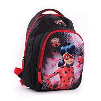 41ut%2BaOXL L. SS324  - Vadobag Backpack Miraculous Tales of Ladybug Mochila Infantil 44 Centimeters Negro (Black, Red)