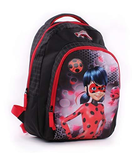 Vadobag Backpack Miraculous Tales of Ladybug Mochila Infantil 44 Centimeters Negro Black, Red
