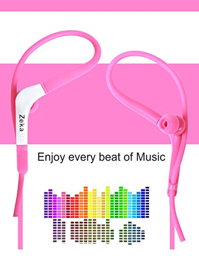 Neon Series Sports Earhook Headset with Mic Compatible For Micromax Joy F145 - Hot Pink  available at amazon for Rs.325