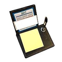 Pen + Sticky Note Memo Pads Holder Label Stationery Home Ofifce Leather Calendar