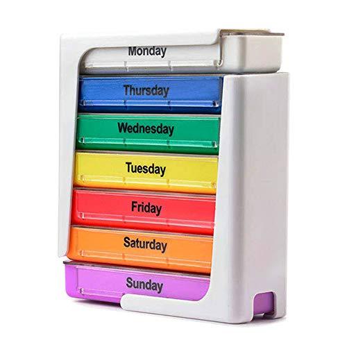 XZLBY Medikamentendosierer 7 Tage - Medikamenten-Box (morgens, Mittags, Abends) - Pillendose - Wochendosierer