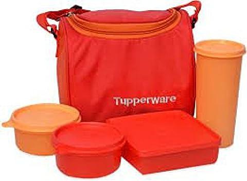 Tupperware Meilleur déjeuner (Y Compris Sac) avec deux bols, un verre et une boîte carrée Permet la Lot d'un repas complet