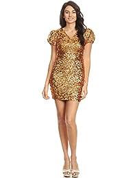 Anna-Kaci Womens Sexy Short Sleeve Sequin Bodycon Mini Cocktail Party Club  Dress 53406de9034a