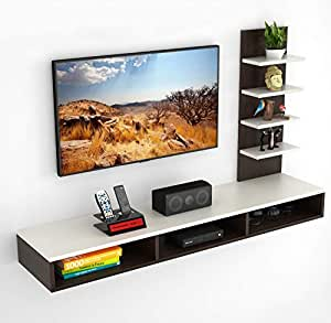 """BLUEWUD Primax Engineered Wood TV Entertainment Wall Unit/Set Top Box Stand (Standard/Ideal for up to 42"""")"""