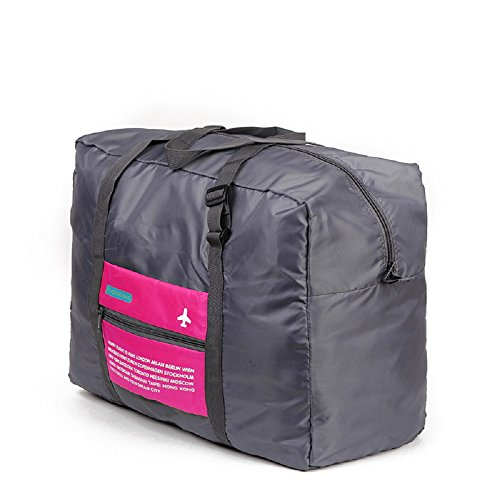 Bolsa de viaje - Plegable - 30 litros Negro / Rosa