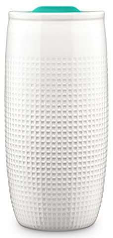 Ello Mesa 14-Ounce Double Wall BPA-Free Ceramic Tumbler with Lid, Teal 14 oz., Teal