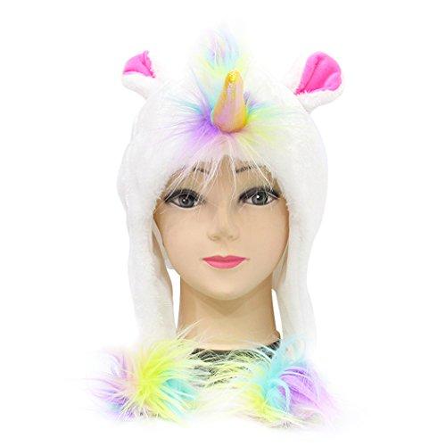 Kostüm Weiße Das Hoodie Una Einhorn Kind - Fascigirl Earflap Hut, KostüM Hoodie Hut PlüSch Einhorn Dekor Earflap Hut Party Hut füR Kinder Erwachsene