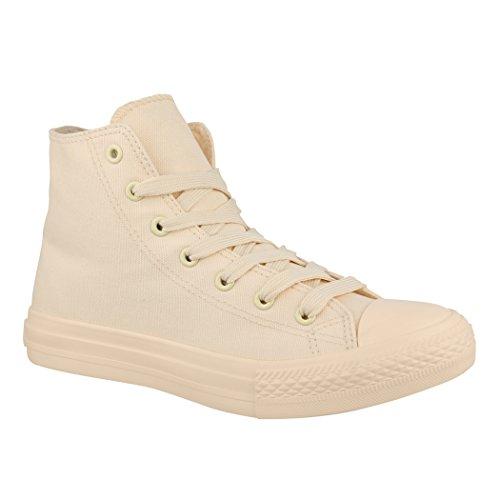 Elara Unisex Sneaker | Damen Herren | High Top | Chunkyrayan ZY9033-12 Beige-45 (Hohe 12)