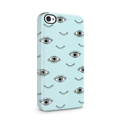 Make Up Girly Pattern Apple iPhone 5 , iPhone 5S , iPhone SE Snap-On Hard Plastic Protective Shell Case Cover Custodia Eyelashes