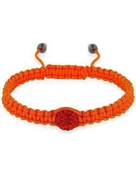 Orange mit Kristall-Perlen Hämatit Shamballa-Armband, Schnur, ca. 20 cm