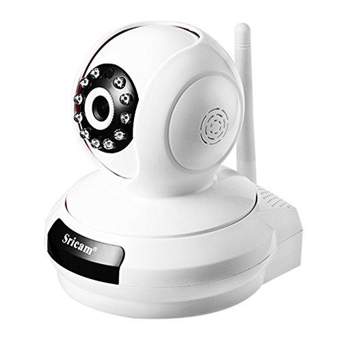 ICOCO 720P Cámara IP WIFI,Cámara de Vigilancia Interior HD 720P P2P Pan/Tilt IR Visión Nocturna Detección de Movimiento Sistema Seguridad para el Hogar/Bebé/Mascotas