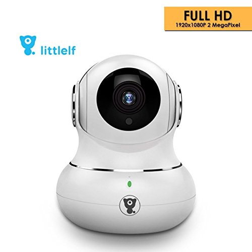 D3D Littlelf Wireless IP WiFi CCTV [Watch ONLINE Demo Right Now] Indoor Security Camera (Support Upto 128 GB SD Card) (White Color) Model : LF-P1T (Wifi Security Camera System Home)