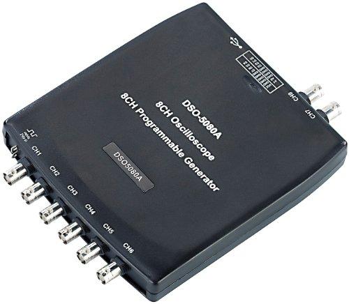 reVolt Oscilloscope: Digitale Multikanal-USB-Oszilloskop-Box DMO 20/8.USB, 8CH,12bit (Oszilloskop Laptop)