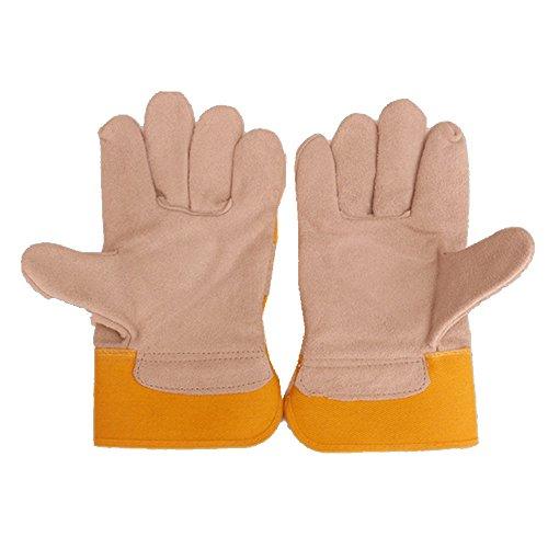 E Support Gelb TIG MIG Profi Fingerschweißhandschuhe Hitzeschutzschild Hitzeschutz Sicherheit Handschuhe