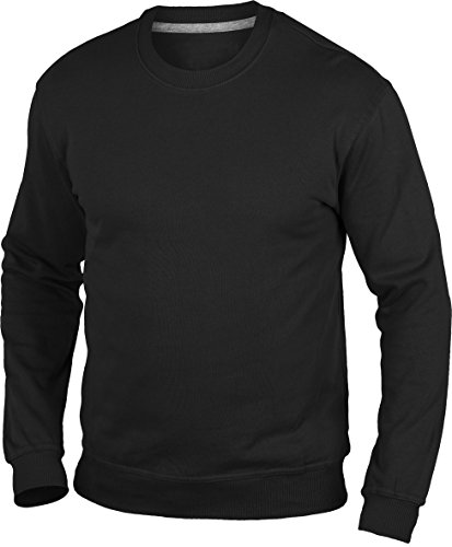 Hanes uomo sweat-Shirt Nero - Nero