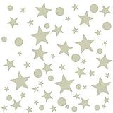 Naler 442 Stück Leuchtsterne Leuchtpunkte für Sternenhimmel Selbstklebende Aufkleber FluoreszierendSticker Wand Deko Sternenhimmelaufkleber