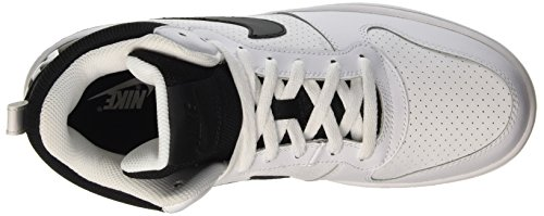Nike Court Borough Mid, Scarpe da Basket Uomo Multicolore (White/Black)