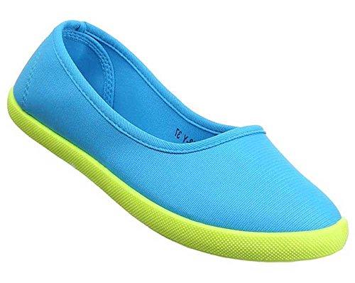 Damen-Schuhe Slipper   stilvolle Halbschuhe in verschiedenen Farben und Größen   Schuhcity24   Freizeitschuhe Hellblau