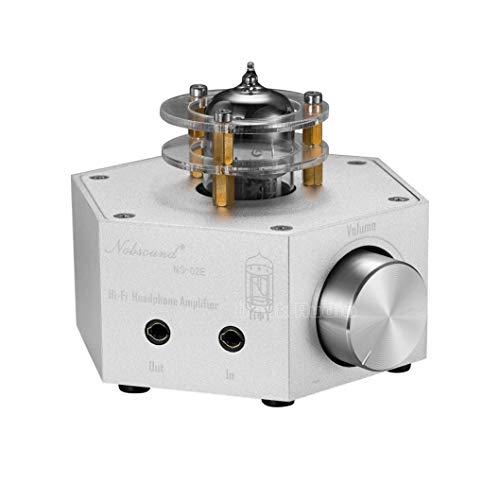 Nobsound NS-02E Vacuum Tube Headphone Amplifier Stereo HiFi Earphone Pre-Amp DIY Verstärker (Silber) (Amp Tube Vacuum Pre)