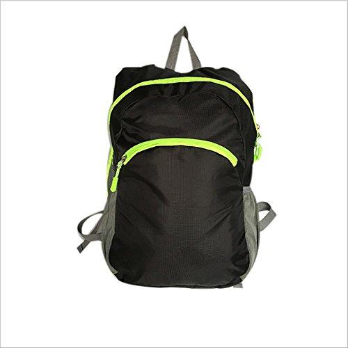 Xiuxiandianju 20L - 35L sport outdoor pieghevole zaino uomini e donne impermeabile sport borsa borsa a tracolla per il tempo libero zaino da viaggio , black Black