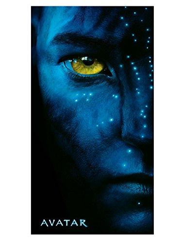 Soleil d'Ocre Drap DE Plage Velours Imprime Avatar Movie Eye 152x76 cm