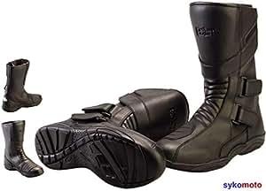 Unbekannt Bolt R45 WASSERDICHT Lange Touring Motorrad Stiefel Leder Roller SCHÜTZEN Stiefel (43 EU/9 UK)
